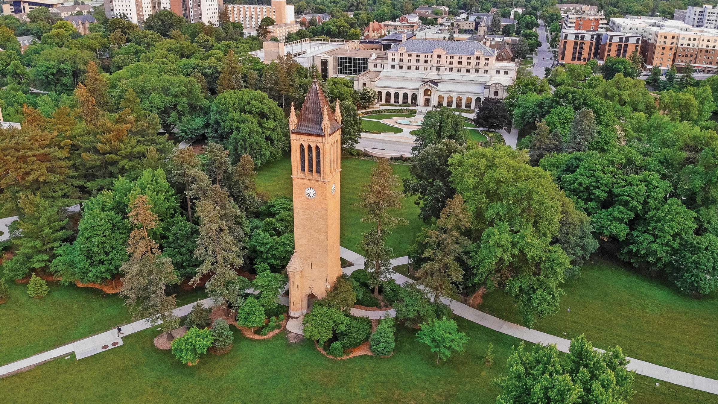 Aerial View of the Campanile
